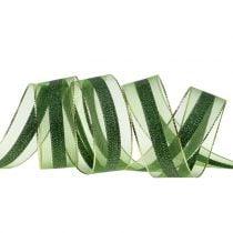 Organza bånd med stripemønster 25mm 20m