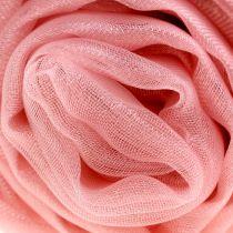 Organza dekorativt stof lyserødt 150 cm x 300 cm