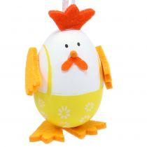 Malet æg som en hane til at hænge i en blanding 7,5 cm 12stk
