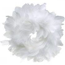Påskedekoration forårskrans hvid Ø18cm forårsdekoration