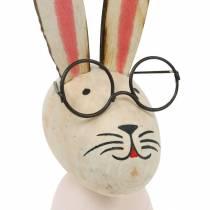 Påske dekoration, kanin med briller, forår dekoration, metal kanin, bord dekoration