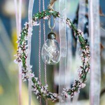 Påskeæg med tørrede blomster, dekorative æg ægte glas, blomster påske dekorationer at hænge, glasæg 8stk