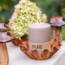 Ren søjle lys brun 90/70 stearin bæredygtig stearin og rapsfrø naturlig voks