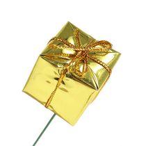 Pakke 2,5 cm på wire guld 60stk