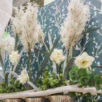 Pampas Græs Hvide Kunstige Tørre Græs Kunstige Planter