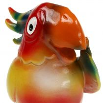 Papegøje figur 11,5 cm farvet 1 stk