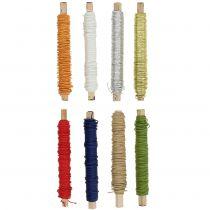 Papirkabeltråd pakket Ø0.8mm 22m farvet