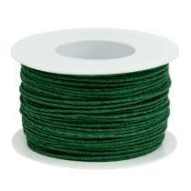 Papirledning tråd viklet omkring Ø2mm 100m grøn
