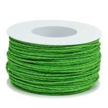 Papirkabeltråd pakket Ø2mm 100m æblegrønt