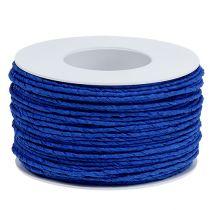 Papirsnor indpakket i tråd Ø2mm 100m blå