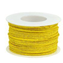 Papirledning ledning Ø2mm 100m gul