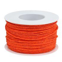 Papirkabeltråd pakket Ø2mm 100m orange
