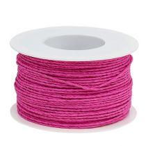 Papirledning ledning Ø2mm 100m lyserød