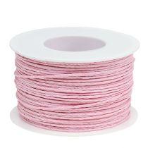 Papirsnor indpakket i tråd Ø2mm 100m lyserød