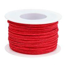 Ledningspapir indpakket i Ø2mm 100m rød