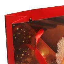 Gaveposer sæt julemotiv julerød 20cm × 30cm × 8cm