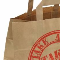 Papirpose tage væk 26cm x 17cm x 25cm 25stk