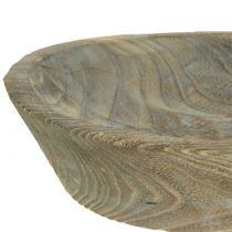 Dekorativ skål Paulownia træ oval 44 cm x 19 cm H8cm