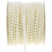 Pearl bånd creme 4mm 20m