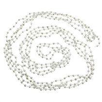Pearl krans juletræ kæde lysegrøn 7m