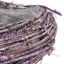 Plantehjerte lavet af vinbjørnebær vasket 27 cm x 24 cm