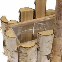 Plantningskurv birkegrener med håndtag 24x14,5 cm H25,5cm