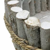 Planteskål lavet af grene Ø33cm H13cm