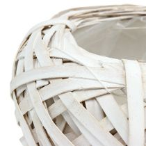 Planteskål hvid Ø20cm H9cm