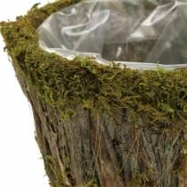 Planteskål Mos/bark Rundt Ø15/20cm Sæt med 2