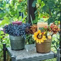 Plante potte orange, brun, grøn Ø10,5cm H10cm sæt med 3