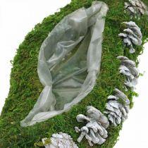 Plantermos og kegler bølger grønne, vaskede hvide 41 × 15cm
