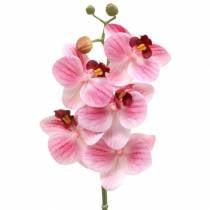 Kunstig orkidégren Phaelaenopsis pink H49cm