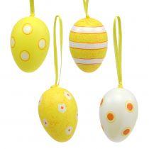 Æggehæng i plast, gul 6 cm 12stk