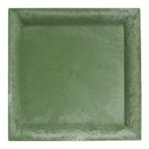Plastplade grøn firkant 19,5 cm x 19,5 cm