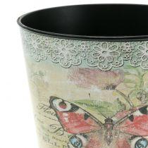 Dekorativ pot vintage sommerfugl Ø17cm