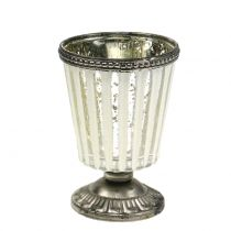Tealight glas kop bondesølv H11cm