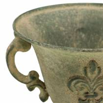Kop skål vintage grøn Ø15cm H14cm
