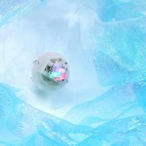 Dekorative vandmænd til at hænge skinnende blå med LED-lys Ø26 H65cm