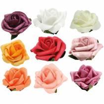 Foam-Rose Ø3,5cm forskellige farver 48stk