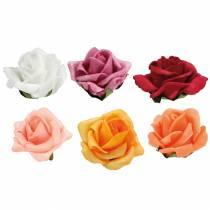 Foam-Rose Ø4.5cm forskellige farver 36stk