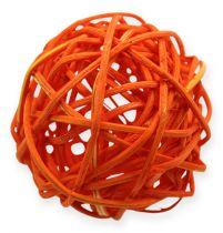 Rattan kugler 4,5 cm orange abrikos 30stk