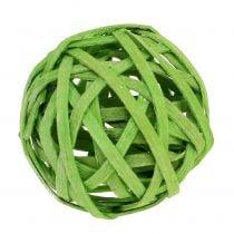 Rattan kugle forårgrøn Ø4cm 12stk