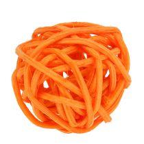 Rattan kugle orange gul abrikos 72stk