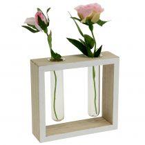 Reagensglas i tretramme 13 cm x 12 cm 2 stk