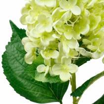 Kunstig panicle hortensia, hortensia grøn, høj kvalitet silke blomst 98cm