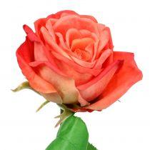 Rose kunstig blomst laks 67,5 cm