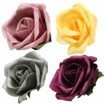 Skum Rose Ø15cm forskellige farver 4stk