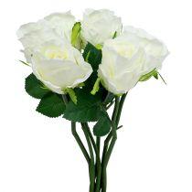 Rose hvid Ø6cm L30cm 6stk