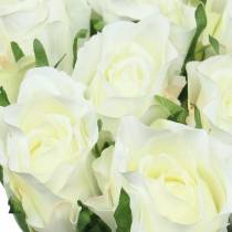 Rose hvid 42cm 12stk