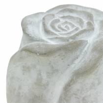 Gravdekoration rose gravdekoration beton H10cm 4stk